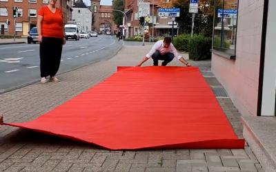 Ein roter Teppich für den Pflegedienst Dülmen